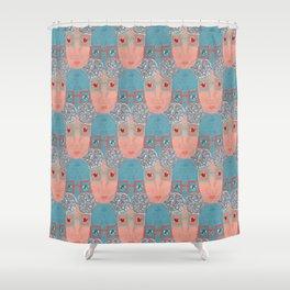 Elderly Woman Pattern Shower Curtain