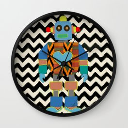 Kente Bot 2 Wall Clock