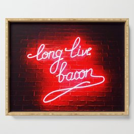 Long Live Bacon Serving Tray