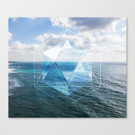 Sacred Geometry Seaview Canvas Print