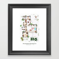 Kusakabe Residence from 'Tonari no Totoro' film Framed Art Print