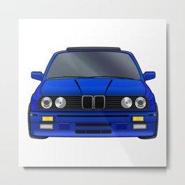 M3 E30 Blue Metal Print