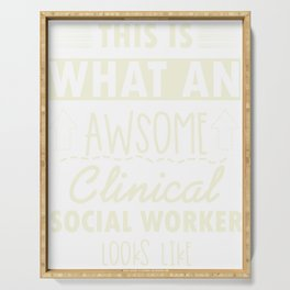 Counselor Gift for Clinical Social Worker Design Serving Tray