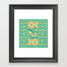 Peacocks and Butterflies Framed Art Print