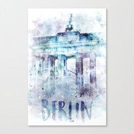 Modern Art BERLIN Brandenburg Gate | jazzy watercolor Canvas Print