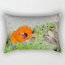 Poppy in the garden Rectangular Pillow