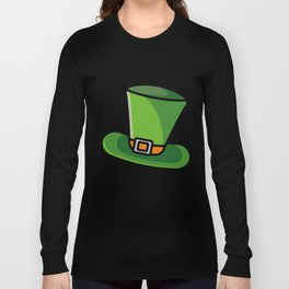 Leprechaun Hat Clover St Patrick's Day Beer Feast Irish Shamrock Ireland Gift Long Sleeve T-shirt