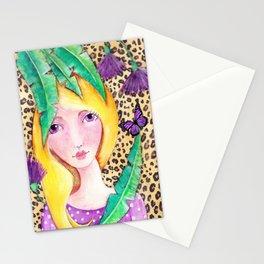Jungle Girl Stationery Cards