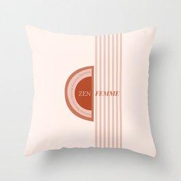 Zen Femme Throw Pillow