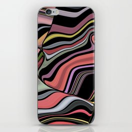 ROMA - bright bold abstract colours with black iPhone Skin