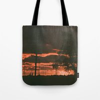 detroit Tote Bags featuring Detroit by Amber Hewitt