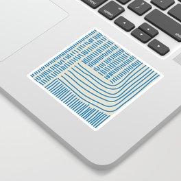 Digital Stitches thick beige + blue Sticker
