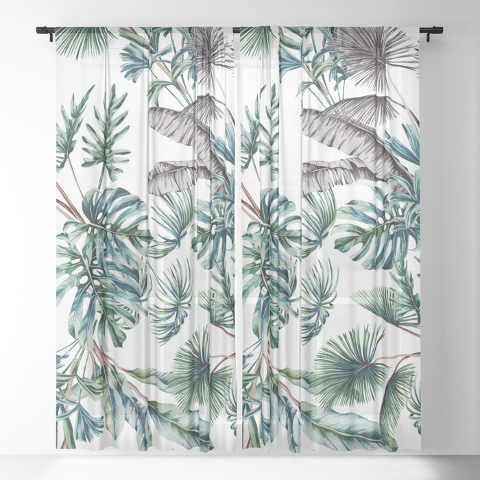 Passion for the jungle Sheer Curtain