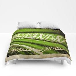 Grunge sticker of Kingdom of Saudi Arabia flag Comforters
