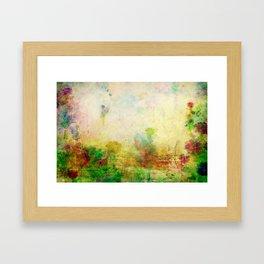 Ginkelmier Land ~ Watercolor Fairy Garden Framed Art Print