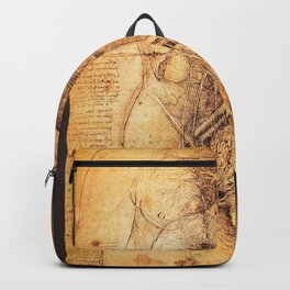 Anatomical drawings by Leonardo Da Vinci Backpack