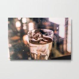 Golden shimmer - Bar Metal Print