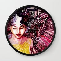 alone Wall Clocks featuring Alone by Verismaya