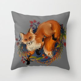 Sly Fox Spirit Animal Throw Pillow