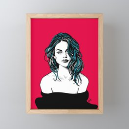 Frances Bean Cobain Framed Mini Art Print