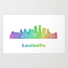 Rainbow Louisville skyline Art Print