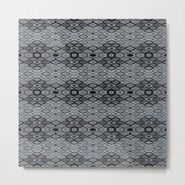 Teardrops in Grey (Smaller) Metal Print