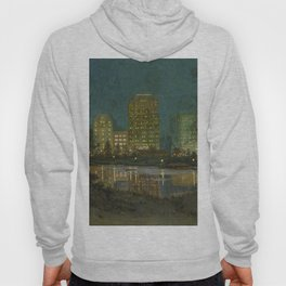 Central Park and Plaza Hotel, NY, NY by William Anderson Coffin Hoody