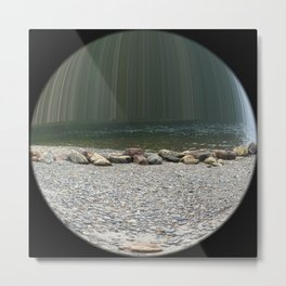 Ocean in a Ball Metal Print