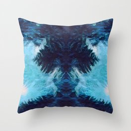 SMUDGY SYMMETRY Throw Pillow