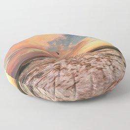 Cotton Candy Sunset Floor Pillow