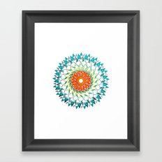 Radial Three Framed Art Print