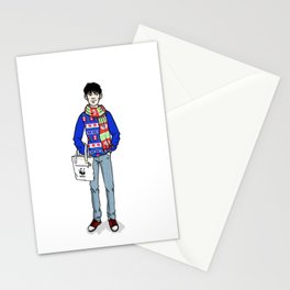 Christmas Merlin Stationery Cards