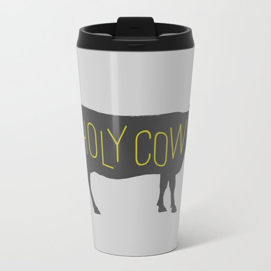 Holy Cow! Metal Travel Mug