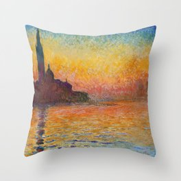 Claude Monet – Saint georges majeur au crépuscule San Giorgio Maggiore by Twilight Throw Pillow