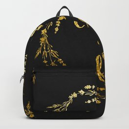 Classy as fuck Golden floral Backpack