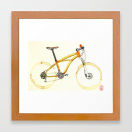 Coffee Wheels #08 Framed Art Print