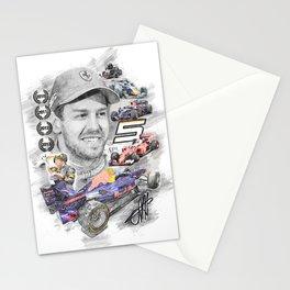 Sebastian Vettel Stationery Cards
