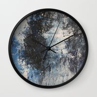 the strokes Wall Clocks featuring Strokes by Hasan Nisar Basra