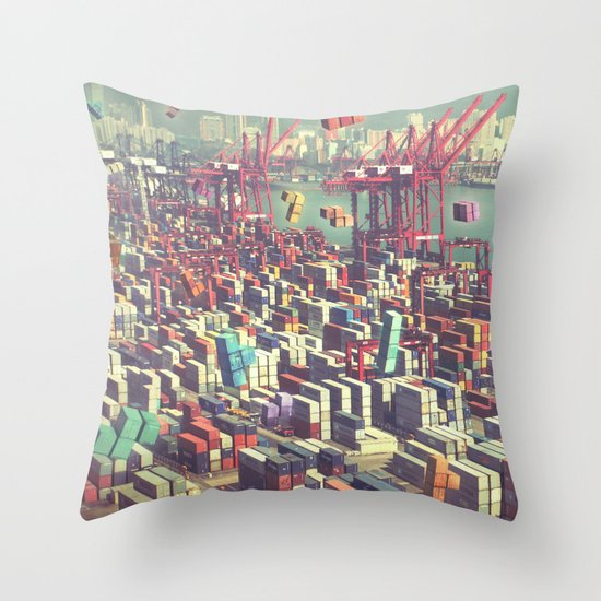 Pier Tetris Throw Pillow