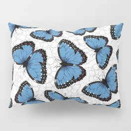 Blue morpho butterflies Pillow Sham