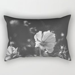 Black and white anemone flowers Rectangular Pillow
