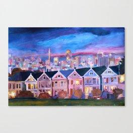 San Francisco - Painted Ladies - Alamo Sq  Canvas Print
