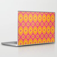mod Laptop & iPad Skins featuring Mod Flowers by robyriker
