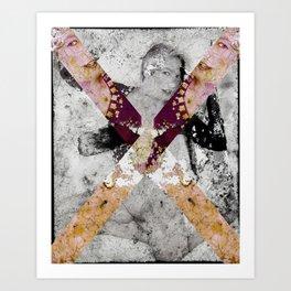SALTIRE QUATTRO Art Print