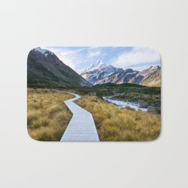 Mt.Cook New Zealand - A hikers dream Bath Mat