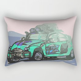2CV (Cyan) Rectangular Pillow