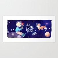 le petit prince Art Prints featuring Le petit prince by LadyAlouette
