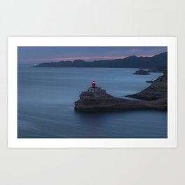 The Madonnetta lighthouse at sunset Art Print