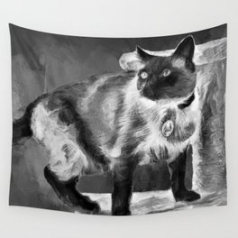 Sulley's Portrait In Black & White Wall Tapestry