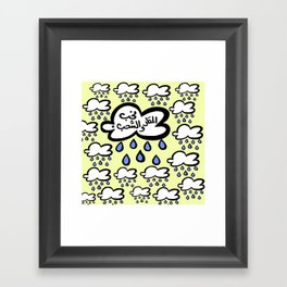 we love Rain And clouds Framed Art Print